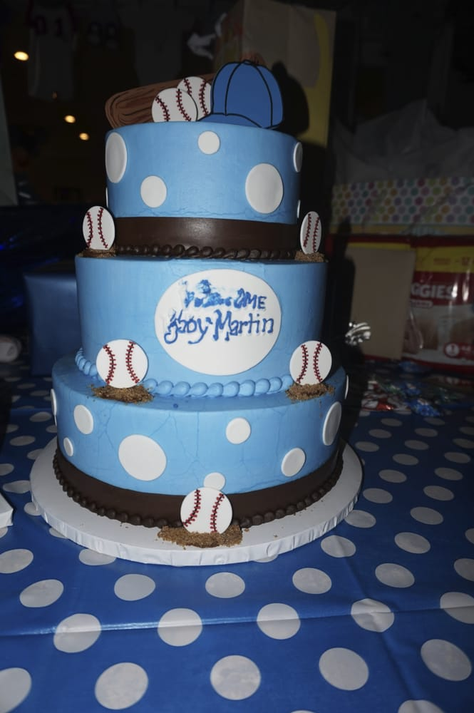 Ordered This Gorgeous Cake For A Lil Slugger Baseball Themed Baby