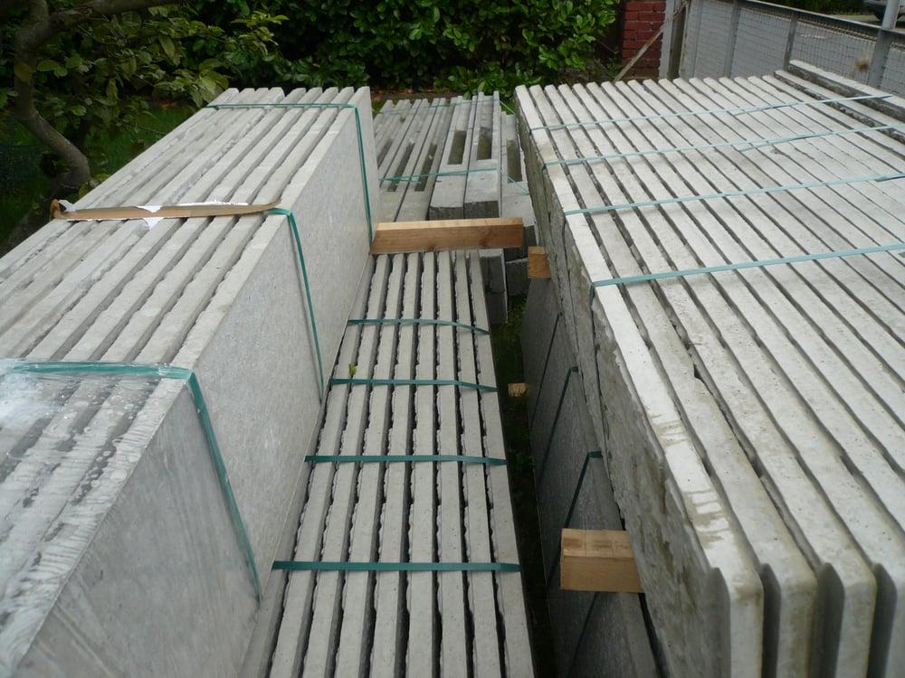 Beckers Betonzaun anlieferung der 29 pfosten und 140 platten beckers betonzaun yelp
