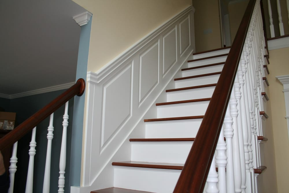 Photo Of Wainscoting America   Wolcott, CT, United States. Staircase  Wainscoting Panels Are