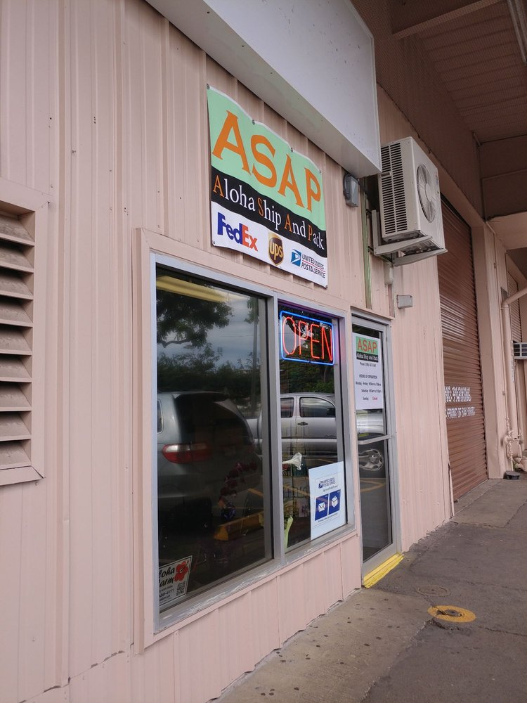 Aloha Ship and Pack: 98-820 Moanalua Rd, Aiea, HI