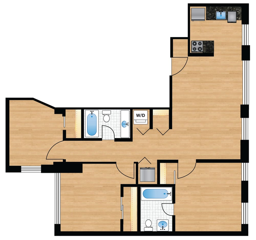 The preston typical 3br 2ba floor plan www for 3br 2ba floor plans