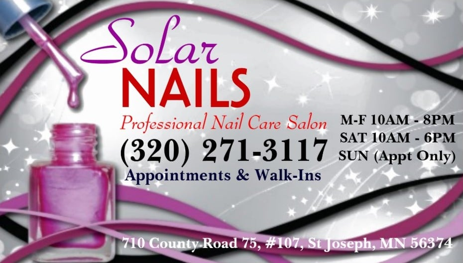 Solar Nails & Spa: 710 County Rd 75, St. Joseph, MN