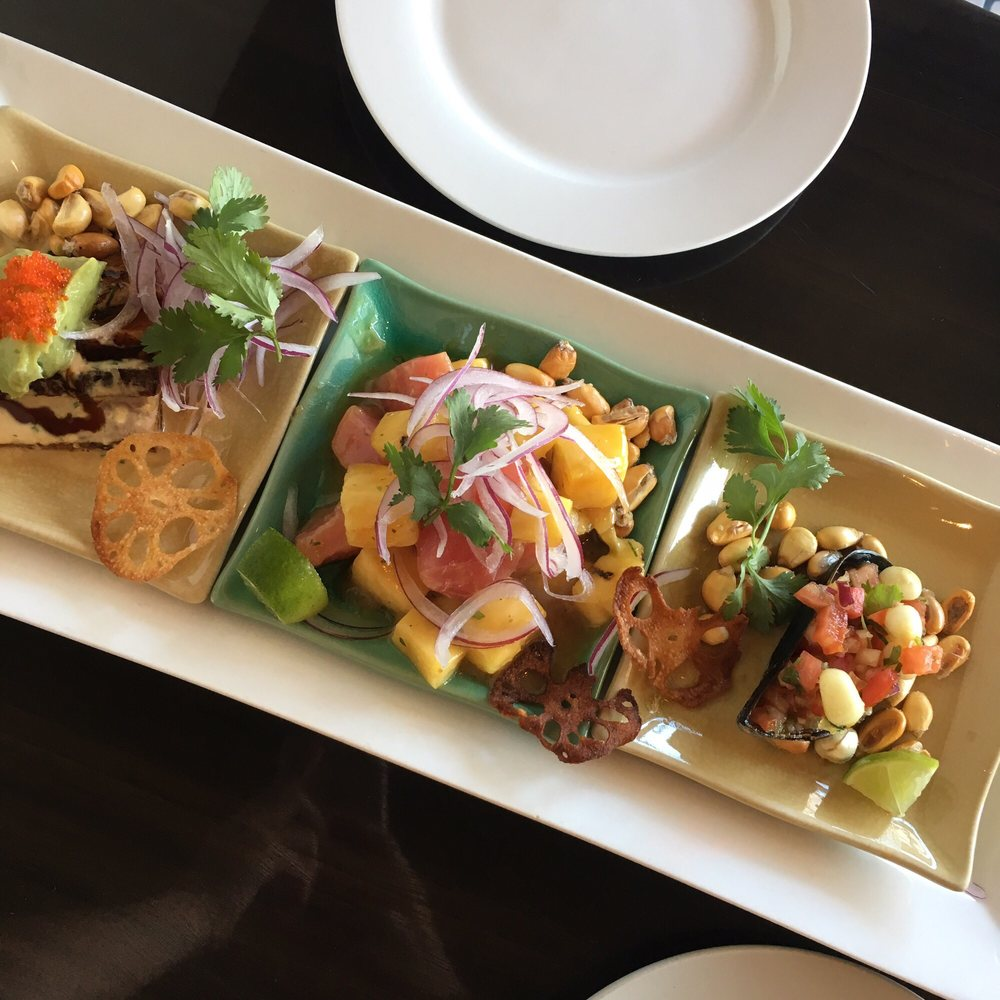 Ceviche Tasting ($20): Atun Blanco, Pineapple Tuna ...