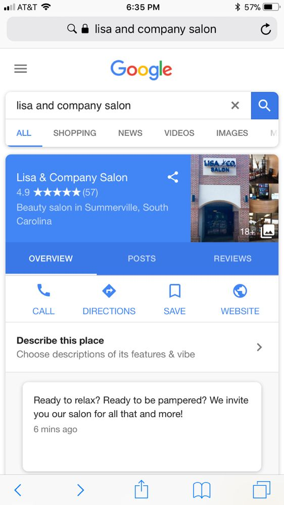 Lisa & Company Salon: 1317 N Main St, Summerville, SC