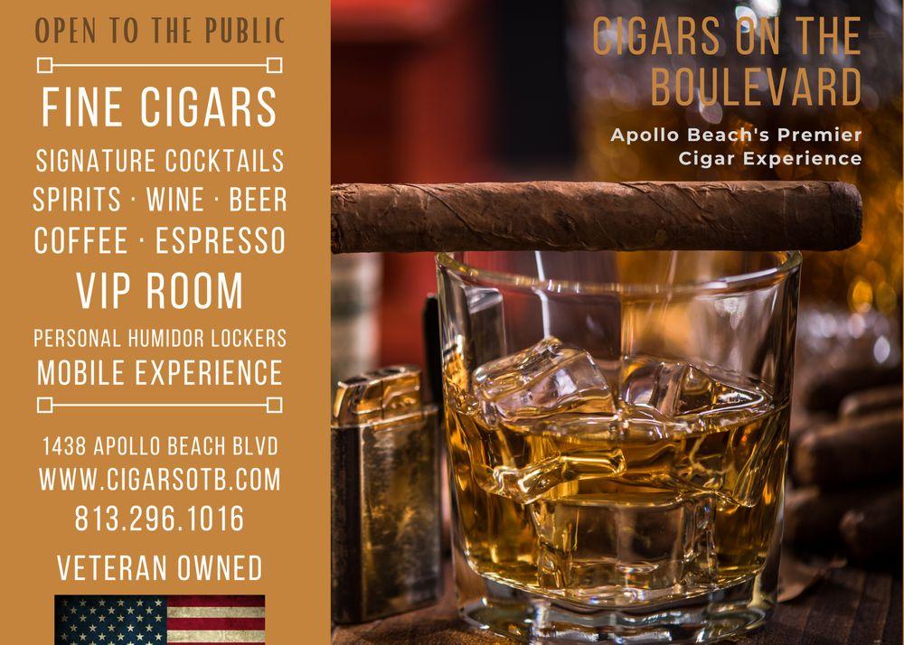 Cigars On The Boulevard: 1438 Apollo Beach Blvd, Apollo Beach, FL