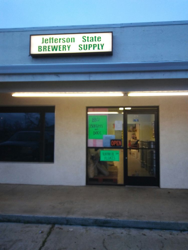 Jefferson State Brewery Supplies: 1707 Bruce St, Anderson, CA