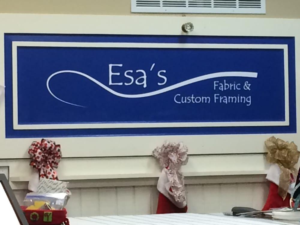 Esa's Fabric & Custom Framing: 37 N Main St, Hartford, WI