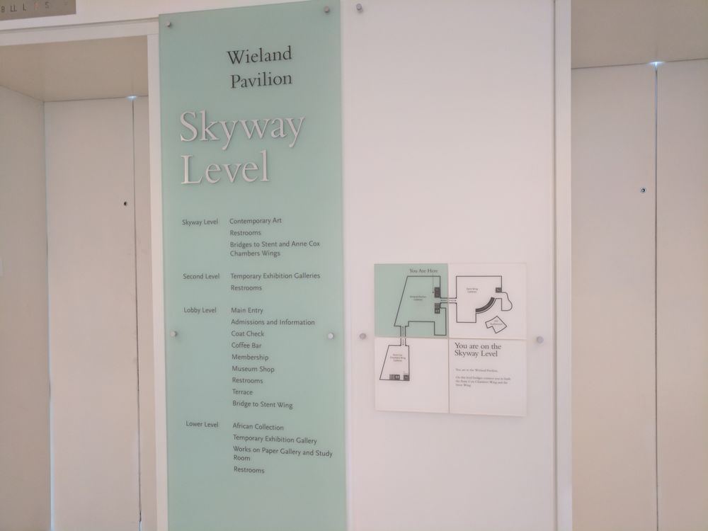 Elevators. Wieland Pavilion. Skyway level. Directory and map.   Yelp