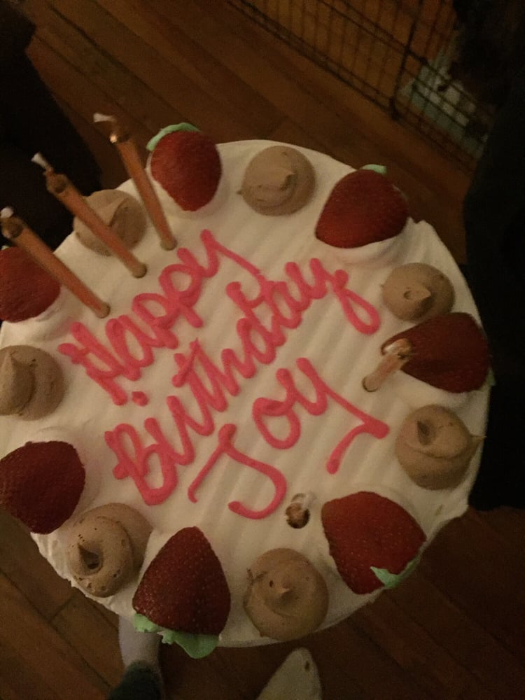 Suppose To Say Happy Birthday Jay Oops Written Has Joy Yelp