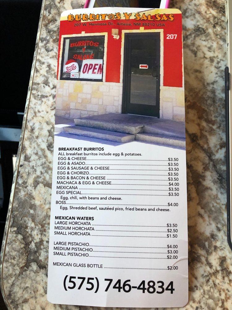 Burritos Y Salsas: 207 W Hermosa, Artesia, NM