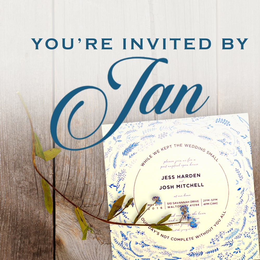 You're Invited By Jan