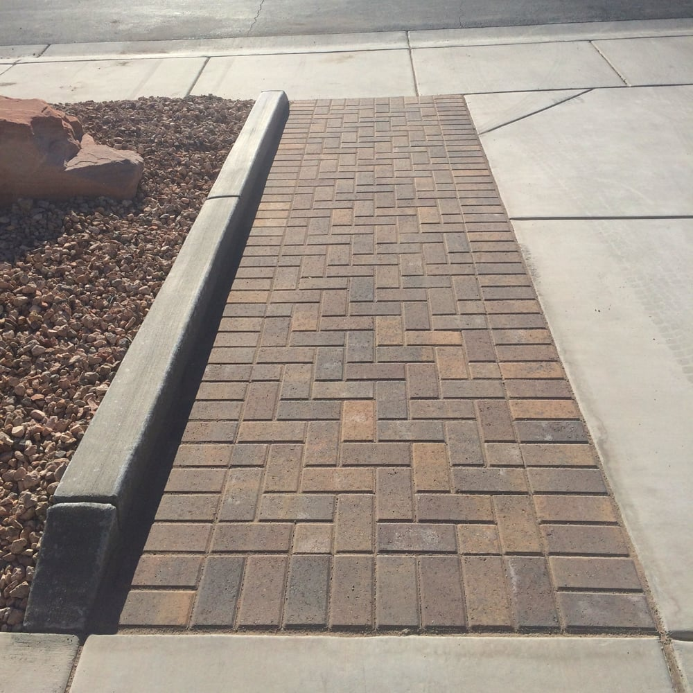 Holland Stone Paver Driveway Extension And Concrete