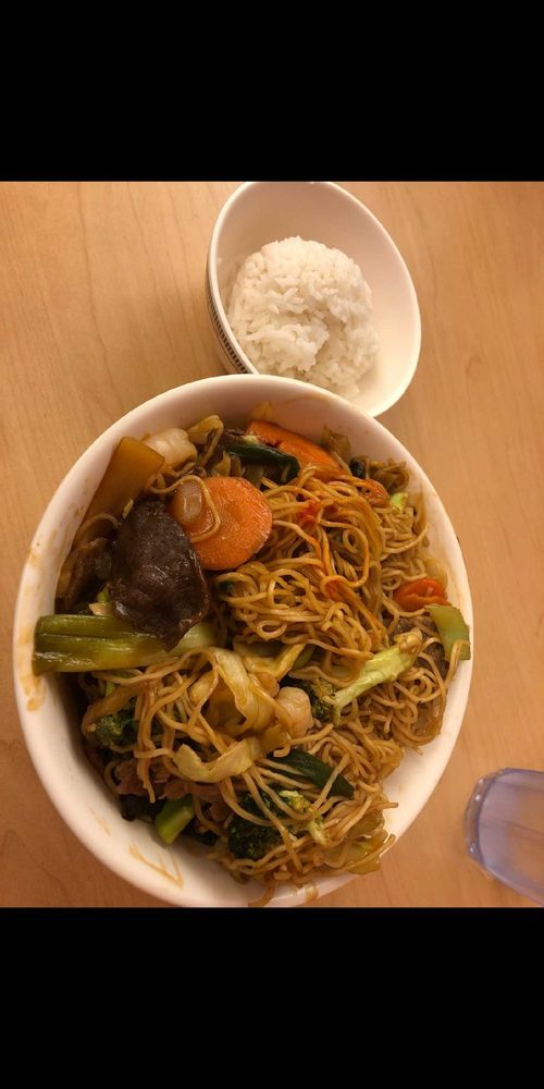 Food from Mongolian Grill