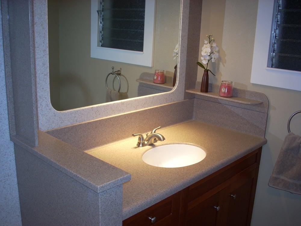 Photo Of Insolid   Waipahu, HI, United States. Seamless Bathroom Sink U0026  Countertop