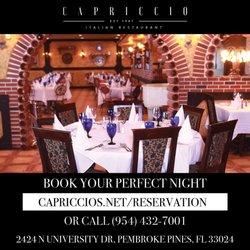 Photo Of Capriccio Ristorante Pembroke Pines Fl United States Main Dining Rooms