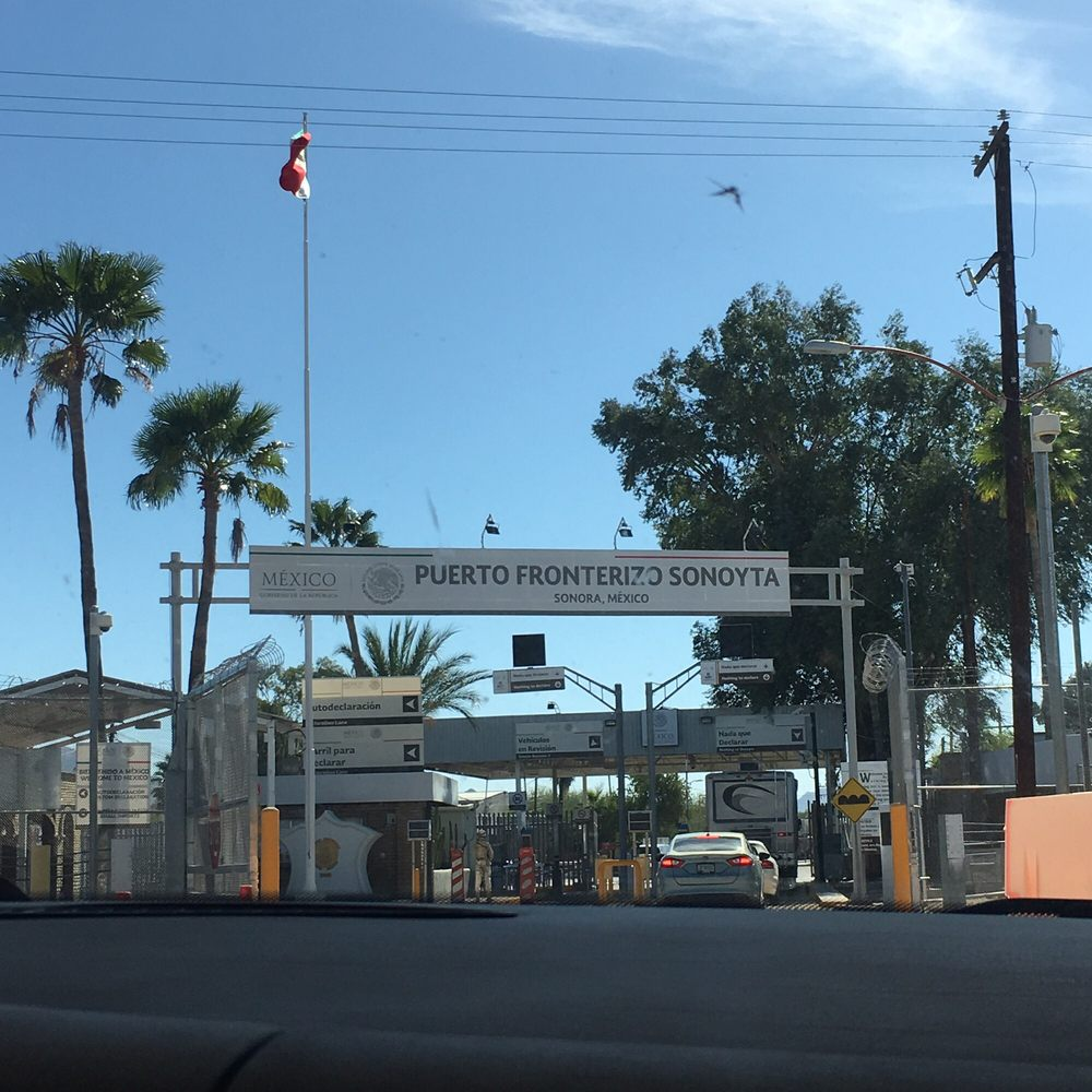 US-Mexico Border / Lukeville-Sonoyta Port Of Entry: Az Hwy 85 / Mexico Hwy 8, Lukeville, AZ