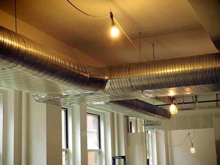 Flat oval spiral duct rector street nyc http