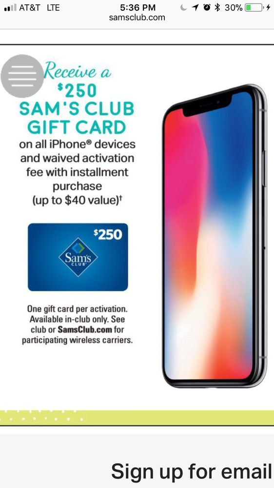 Picture of the IPhone X in the ad  - Yelp
