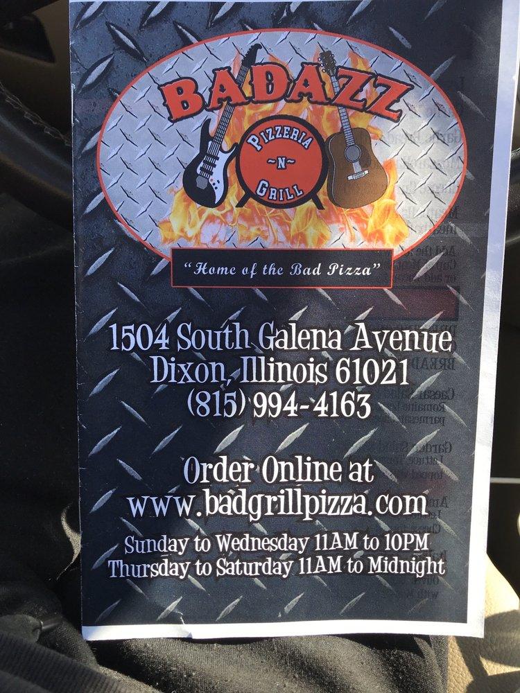 Badazz Pizzeria and Grill: 1504 S Galena Ave, Dixon, IL