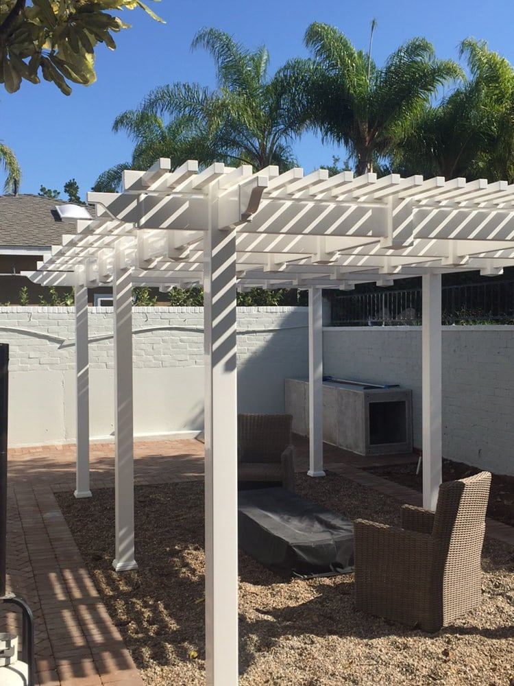 White Free Standing Patio Cover Yelp