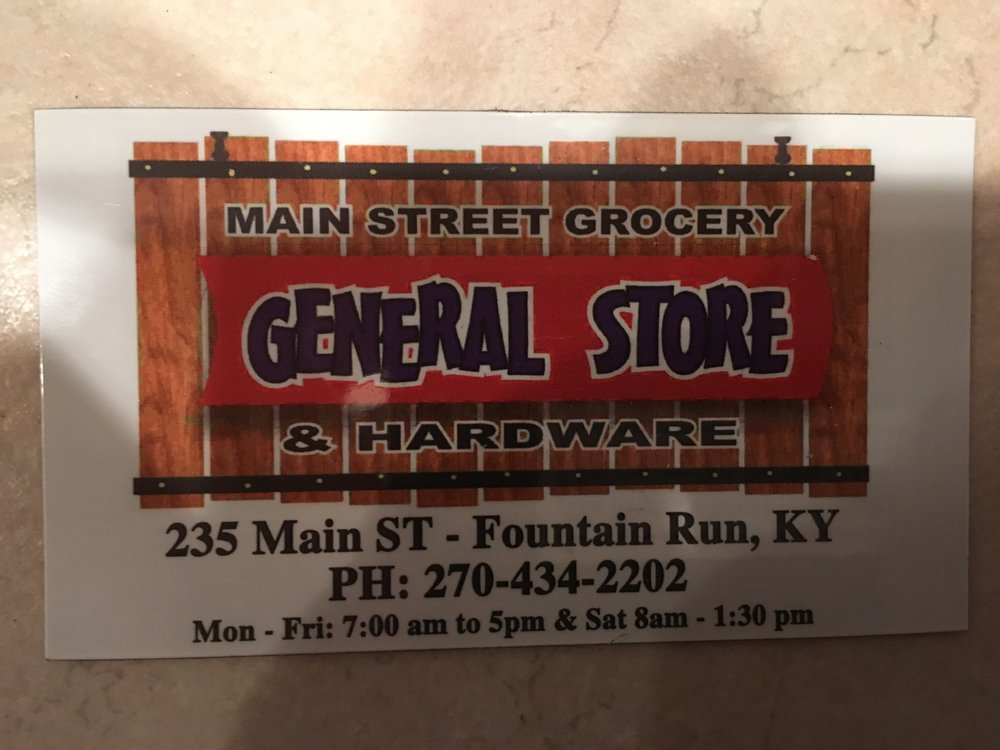 Main St Grocery & Hardware: 235 Main St, Fountain Run, KY
