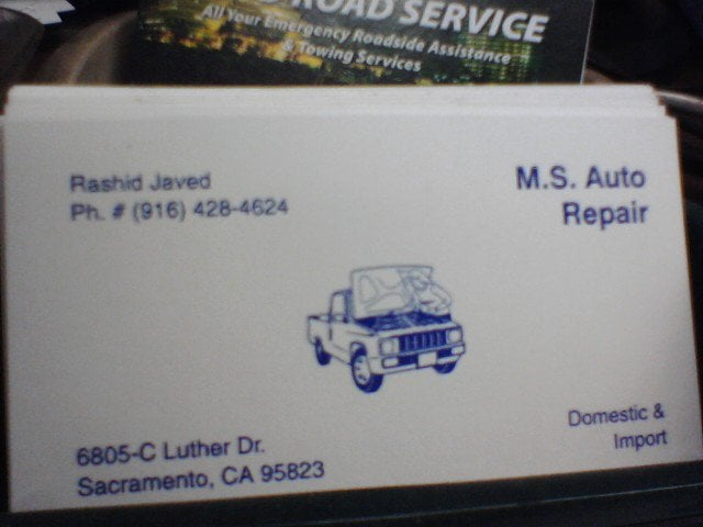 MS Auto Repair: 6805 Luther Dr, Sacramento, CA