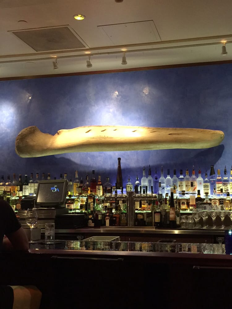 Bar area think thats a whale bone yelp for Ringside fish house