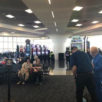 'Photo of McCarran International Airport - Las Vegas, NV, United States. Slots while you wait' from the web at 'https://s3-media3.fl.yelpcdn.com/bphoto/pfpz0x5a1TG5opBF4BUphw/348s.jpg'