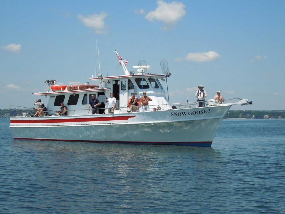 Sound fishing charters snow goose ii pesca 41 dwight for Fishing charters ct