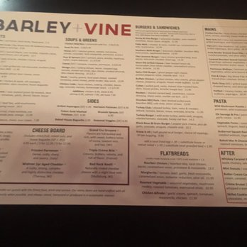Photo Of Barley + Vine   Lakeville, MN, United States. Main Menu