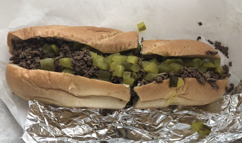 Food from Carl's Steak Subs