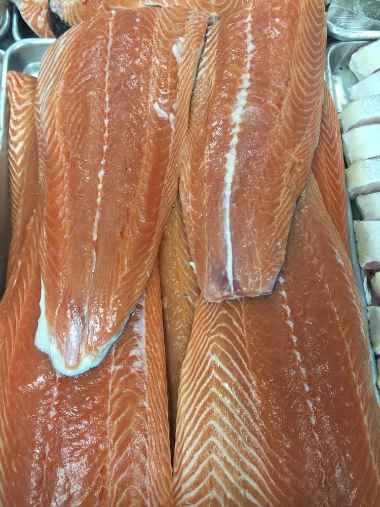 Fresh salmon fillet yelp for Fish market paterson nj