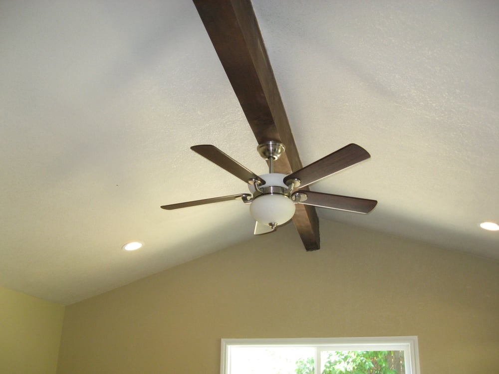 Ceiling fan mounted on beam yelp photo of sb electric concord ca united states ceiling fan mounted on aloadofball Image collections