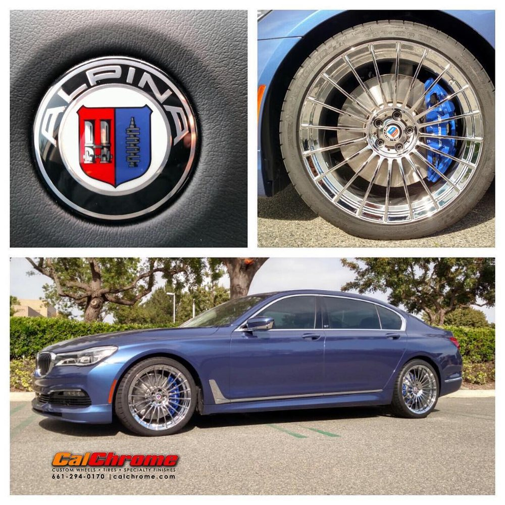 "Bmw B7 Alpina For Sale: 2017 BMW B7 Alpina 21"" Chrome Wheels With 20 Spokes"