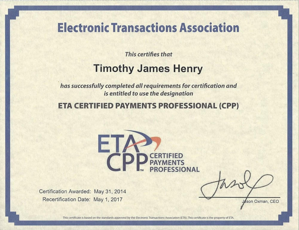 Tim Henry Capital Bankcard Financial Services Burlington Wi