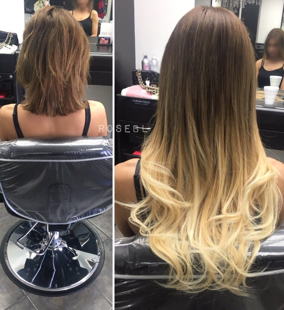 Beforeafter I Tip Extensions Creating An Ombre Without Dyeing Her