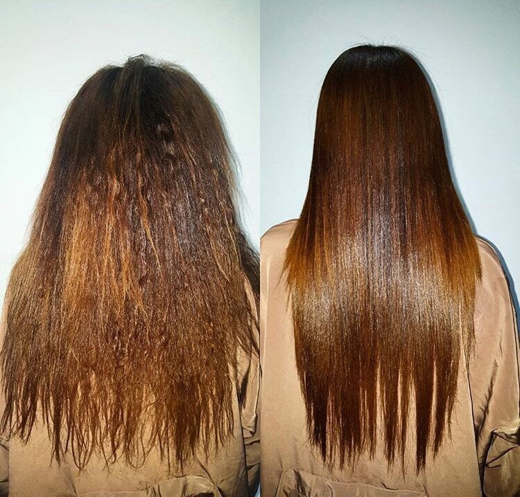 Brazilian Blowout Before And After By Our Master Stylist Jessica