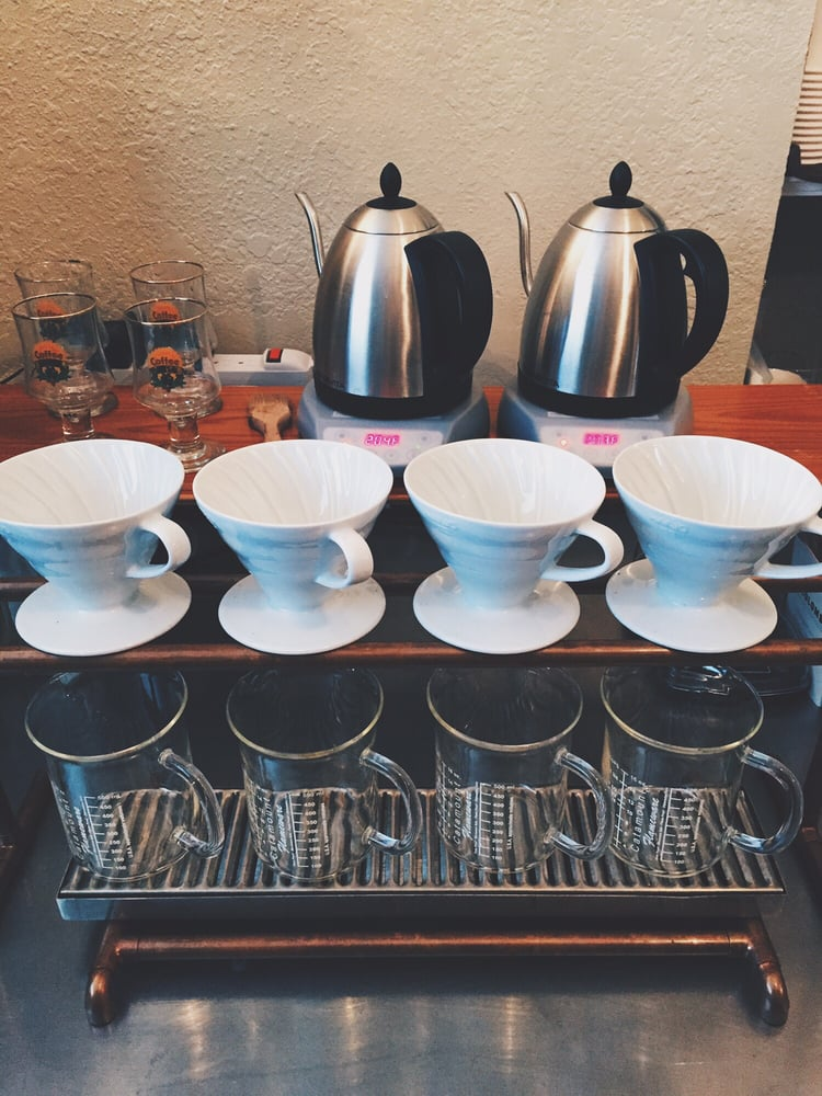 Freshly Brewed Coffee Available On A Hario V60 Or Chemex