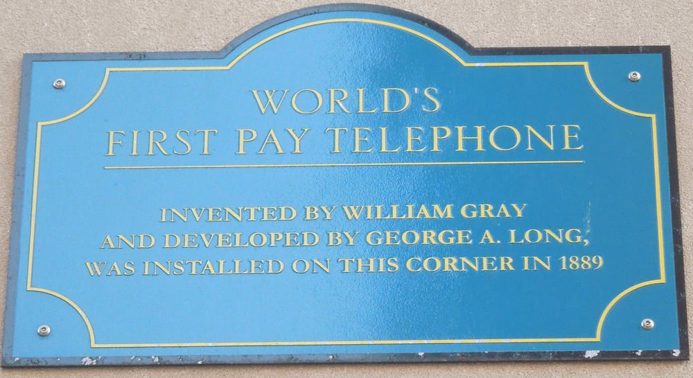 First Pay Telephone Marker