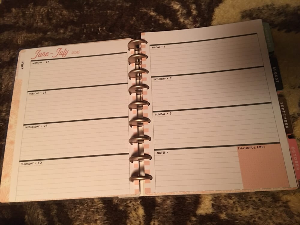 Rose gold horizontal happy planner - Yelp