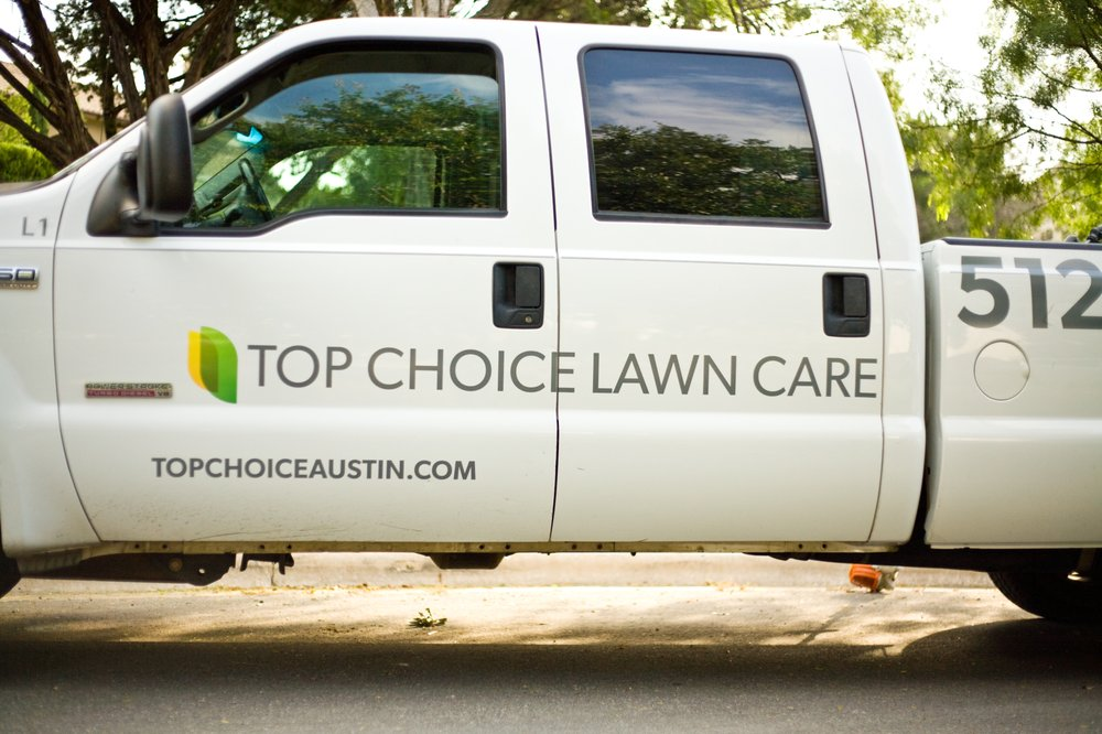 Photo Of Top Choice Lawn Care Austin Tx United States Professional Trucks