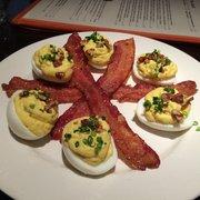 Deviled Eggs w. Spiced Pecans & Sugar Cured Bacon - Menu ...