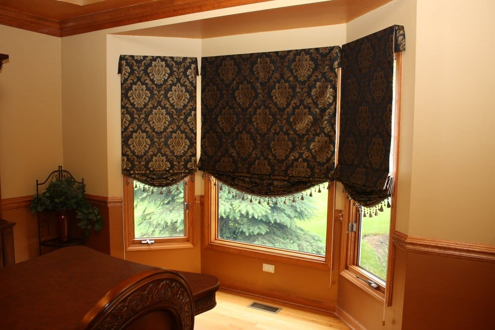 Roman shades in bay window yelp for Roman shades for bay window