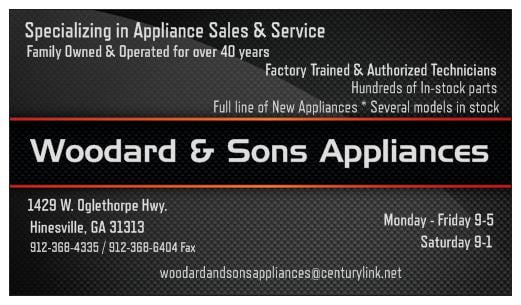 Woodard & Sons Appliances: 1429 W Oglethorpe Hwy, Hinesville, GA