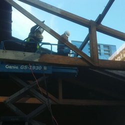 photo of ace sandblasting austin tx united states sandblast wood trusses on