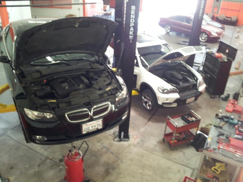 bmw e70 and e92 being serviced yelp. Black Bedroom Furniture Sets. Home Design Ideas