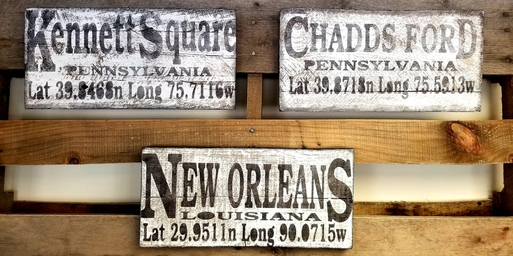 These Longitude Latitude Handmade Wooden Signs Are The Latest Home