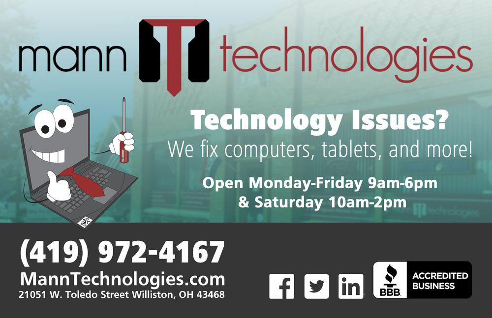 Mann Technologies: 21051 W Toledo St, Williston, OH