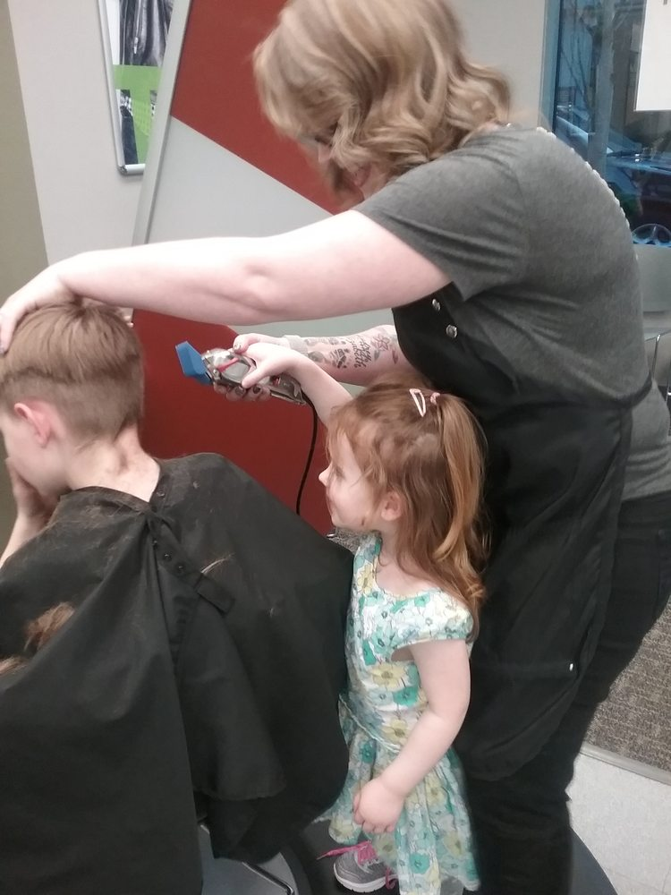 Alisha Let Little Sister Help Cut Brothers Hair So Sweet Yelp