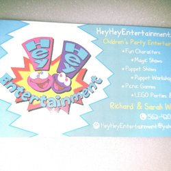 Hey hey entertainment party event planning 3441 faust ave photo of hey hey entertainment long beach ca united states business cards colourmoves Image collections